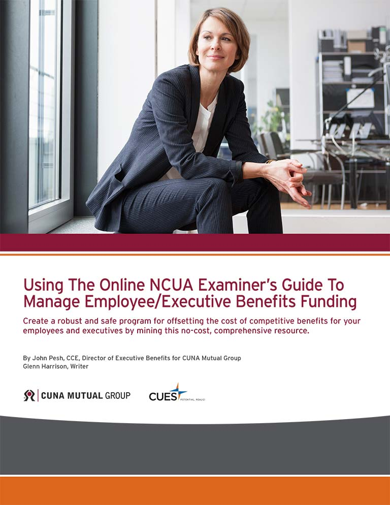 NCUA Examinder's Guide to Manage Employees/Executive Benefits Funding ebook cover